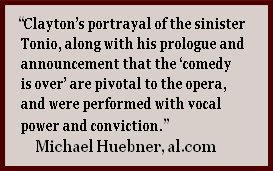 """Clayton's portrayal of the sinister 